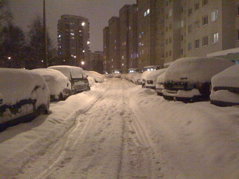 Таллинн 2010 Новогодний снегопад