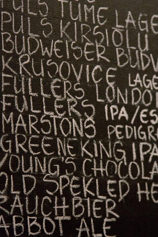 Hell hunt Tallinn почерк в меню на стене